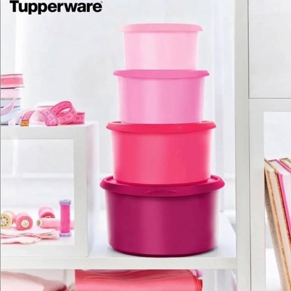 One touch canister set by tupperware
